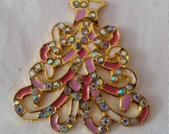 Tree Pendant, Pendant, Bling Pendant, Chunky Bead Pendant, Pink Pendant