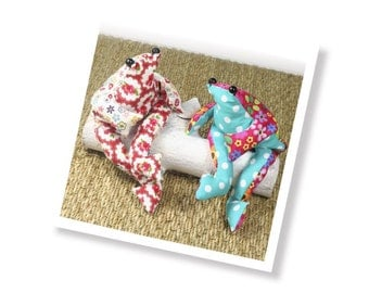 Beginers sewing kit - sew a beanbag frog