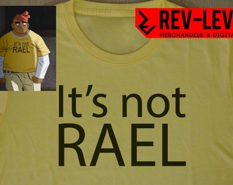 Gorillaz Russell 'It's Not RAEL' Cosplay T-Shirt - Russell Hobbs Saturnz Bars Tee by Rev-Level