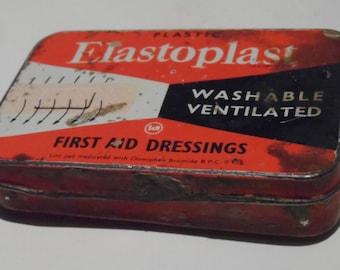 Elastoplast Used & Abused Grubby Little Vintage Empty Plasters Tin