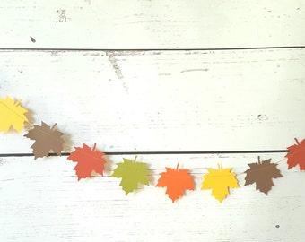 Maple garland Autumn decor Fall wedding decoration,