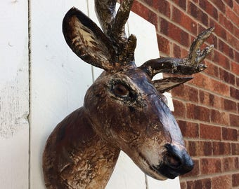 Deer Stag faux taxidermy head