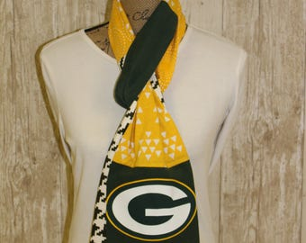 Green Bay Packers t-shirt scarf football cheeseheads