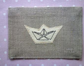 Nice card origami boat