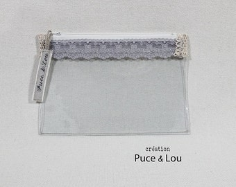 romantic Lavender transparent pouch