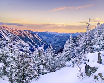 Winter Sunset - White Mountains, New Hampshire
