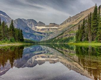 Nature's Mirror, Lake Josephine, Glacier National Park, Montana