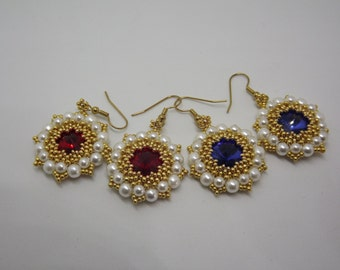 Handmade earrings/acrylic/Bubble/Earrings Pearl Earrings Beaded Earrings