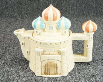 Hearth And Home Designs Castle Teapot With Lid C. 1980u0027S