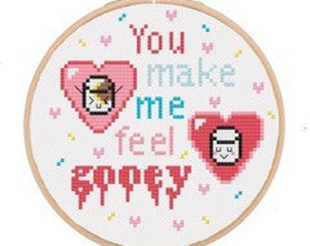 Cross Stitch Kit (Marshmallows!)