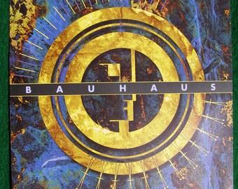 Bauhaus Rock Concert Poster from Bill Graham Presents at the Warfield
