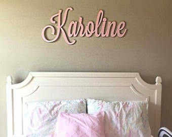Wooden name, above the bed name, nursey name, wooden crib name, wooden name above bed, kids wooden name