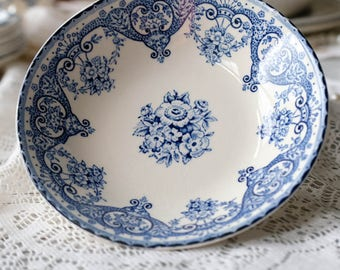 Set of 5 Fruit Bowl, Kent Swinntertons LTD, Blue and White Transferware, Floral Serving Bowl, English,Made in England,Staffordshire