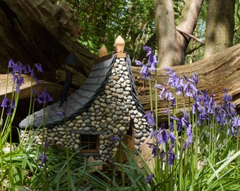 A fairy house for the garden ~  'Bluebell Cottage'