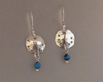December Birthday Earrings - Turquoise Earrings – Sterling Silver Dangle earrings - Turquoise