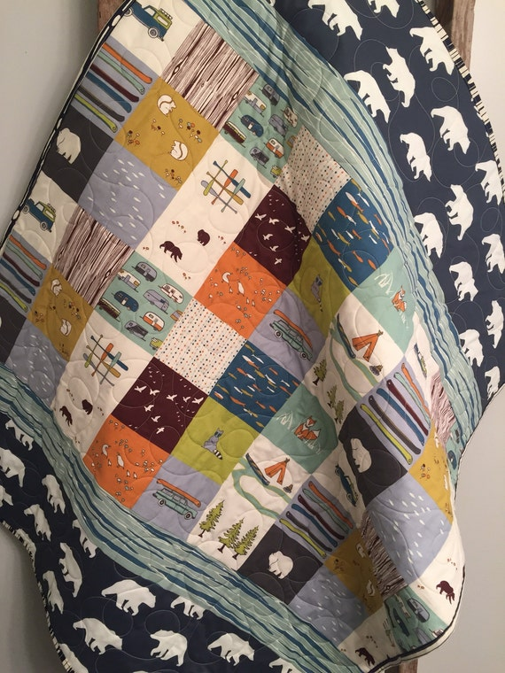 Woodland Baby Quilt Organic Baby Quilt Rustic Baby Quilt : organic baby quilts - Adamdwight.com