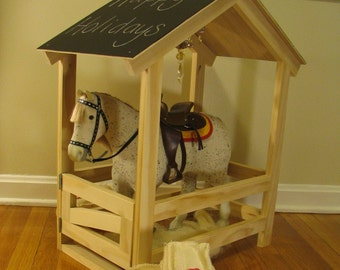 "Horse stable for 18"" Dolls and Horses (Single stall)"