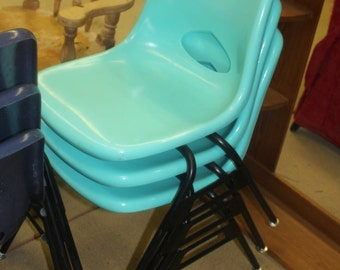 Krueger Fiberglass 1960's Chairs- 4 Colors, Very Very Good Condition, Herman Miller, Eames Style,