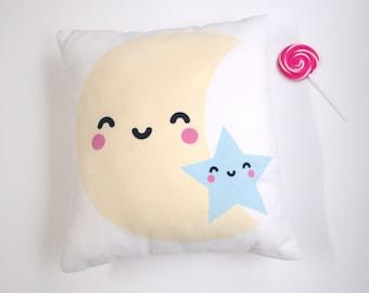Happy Moon & Star pillow