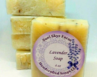 Lavender Goat Milk Soap - Lavender Flowers Soap - Lavender Soap - Handmade Lavender Goat Milk Soap - Natural Lavender Goat Milk Soap
