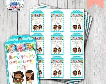 Moana Favor Tags, Moana Favors, Moana Birthday, Moana Party, Moana Party Favor Tags
