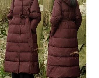 Winter Long Down Coat Winter Down Coat Thick Women Warm Down Coat Many Colors Plus Size WY--11