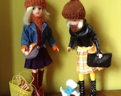 Gorgeous bobble hat and scarf for Sindy, Tammy, Tressy, Barbie doll