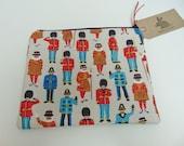 Handmade Makeup Bag Cath Kidston London Guards Police Beefeater Theme Fabric
