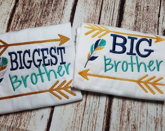 Baby brother, big brother, biggest brother shirts short sleeves