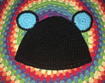Mickey Mouse Ears Crochet Beanie Hat