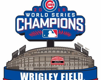 Chicago Cubs Wrigley Field 2016 World Series Champions 4x4 Fridge Magnet