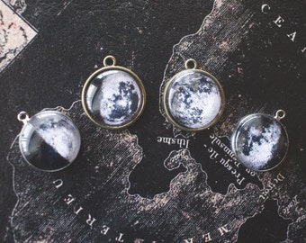 Birth Moon Phase Necklace, Custom Moon Phase, Space Jewelry, Moon Jewelry, Birthday Gift, Anniversary Gift, Lunar Phase Necklace, Astronomy