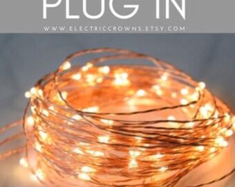 Rustic Wedding String Lights | Wedding Lights Warm White | Indoor String Lights | Micro Led string lights | PLUG IN 33ft 100 Leds