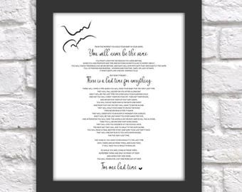 The Last Time Poem Print - Printable Baby Shower, Mothers Day, Pregnancy, New Mom Gift - Nursery Wall Art - Instant Download Digital File