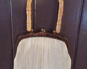Evening bag with Bakelite handle