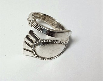 Jewelry Spoon Ring Vintage Spoon Jewelry Silver Antique Ring Coffee Spoon Silver Upscaled Bridesmid Gifts Repurposed
