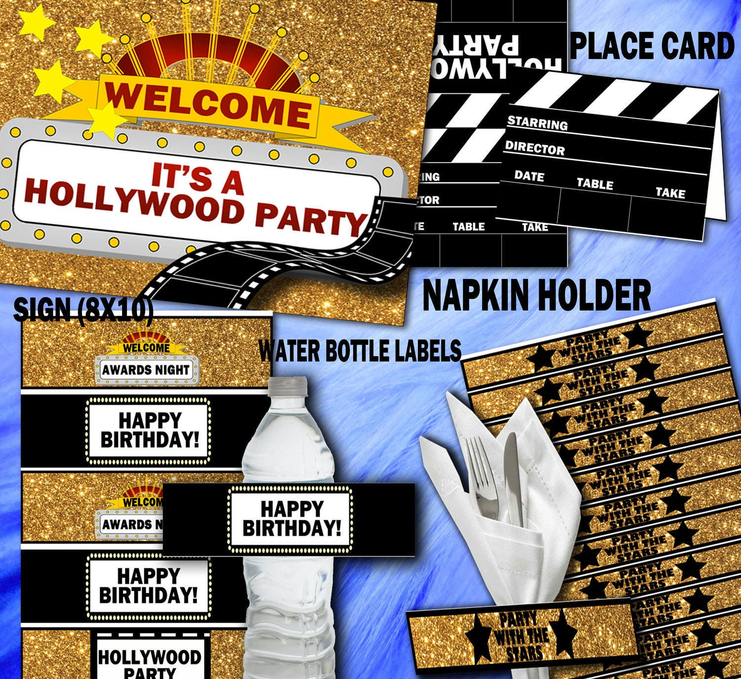 hollywood decorations party cake design decor theme of decorating
