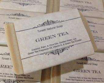 Green Tea Natural Homemade Soap, Handmade soap, Natural Soap, Cold Process Lye Soap