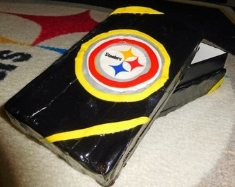 Steelers Stash Jewelry Box Pittsburgh Football Fan Poly-Clay Case Great Gift Free USA Shipping