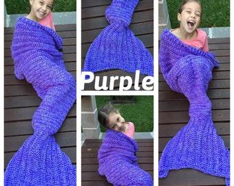Mermaid Tail Blanket, Little Mermaid Tail Blanket, Toddler - Adult Sizes Available, Crochet Mermaid Tail, mermaid lapghan, mermaid cocoon
