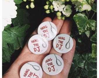 "The Smiths Lyrics ""Hang The DJ"" 25mm Button Badge"