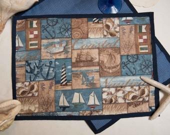 Indoor / Outdoor Handmade Marine Scene Placemat Sets