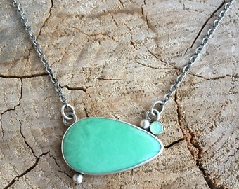 Variscite and Chrysoprase Necklace