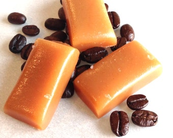 1 lb. Coffee Caramels, Small Batch, Handcrafted Gourmet Sea Salt Caramel