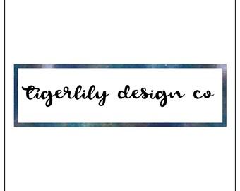 Instant Download Logo | Galaxy Rectangle Logo | Modern Minimalist Box Logo | Blue Universe Box Logo | Premade Logo