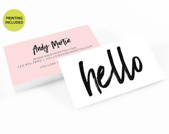 Design & Print - 500 business cards,personalized,business card design, business card printing,custom business cards,floral,gold,watercolor
