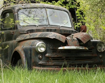 antique Truck, Abandoned, Rusty, Truck Photo, Country Photo, Dodge Truck, Country Decor, wall art, home decor, free shipping