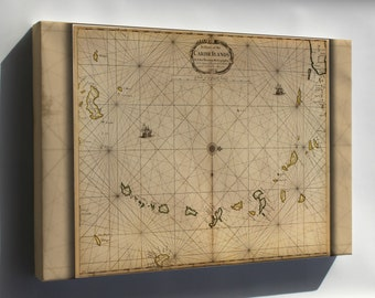 Canvas 24x36; Map Of West Indies 1680