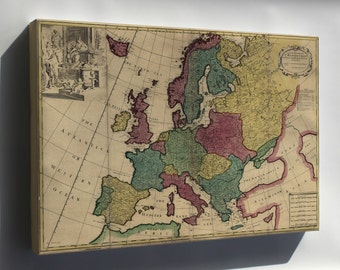 Canvas 24x36; Map Of Europe 1740
