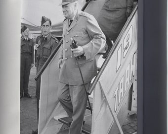 Canvas 24x36; Sir Winston Churchill On Way To Potsdam Conference